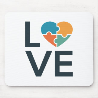 Autism Love Mouse Pad