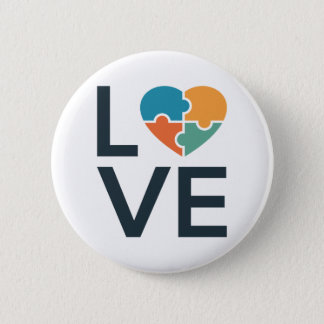 Autism Love Pinback Button
