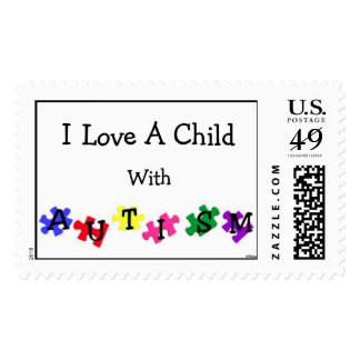 """Autism Love"" Postage Stamps"