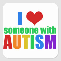 Autism Love Square Sticker