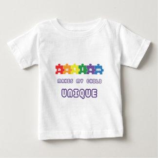 Autism makes my child unique baby T-Shirt