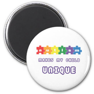 Autism makes my child unique magnet
