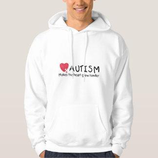 Autism Makes The Heart Grow Fonder (Heart) Hoodie
