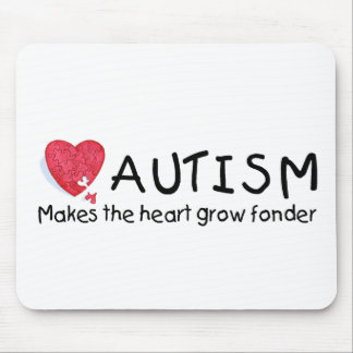 Autism Makes The Heart Grow Fonder (Heart) Mouse Pad