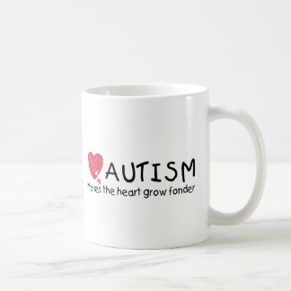 Autism Makes The Heart Grow Fonder (Heart) Coffee Mugs