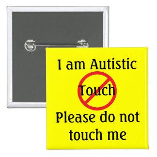 Autism Med Alert No Touch Pinback Button