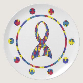 Autism Melamine Plate