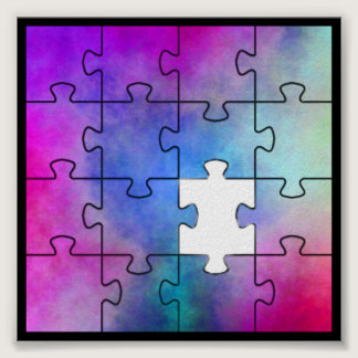 Autism Missing Piece Poster