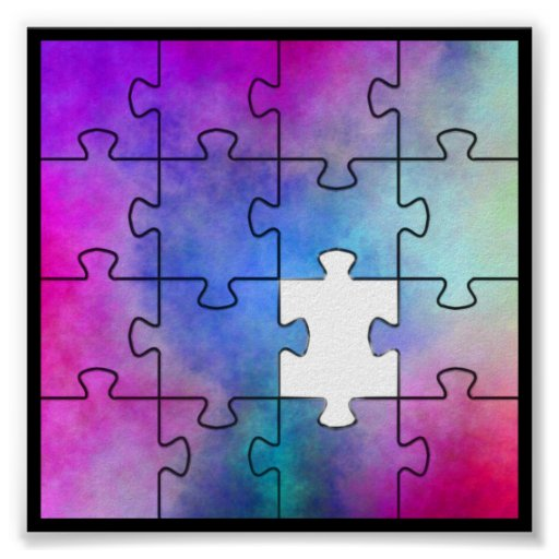 Autism Missing Piece - Wall Poster