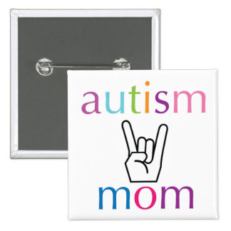 Autism Mom Pinback Button