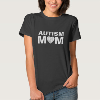 Autism Mom Heart Love Puzzle T Shirt