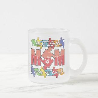 Autism Mom - I Love My Child 10 Oz Frosted Glass Coffee Mug
