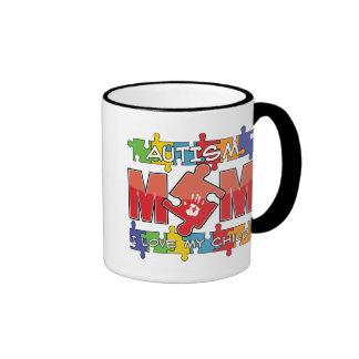 Autism Mom - I Love My Child Ringer Coffee Mug
