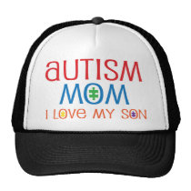 Autism Mom I Love My Son Trucker Hat