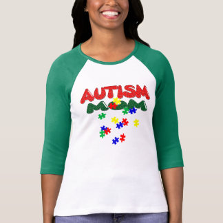 Autism Mom Ladies 3/4 Sleeve Raglan (Fitted) T-Shirt