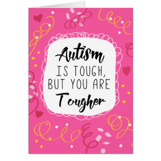 Autism Mom Mother Support Encouragement Awareness Card