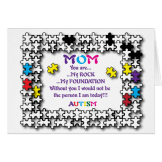 Autism Mom The Rock Card