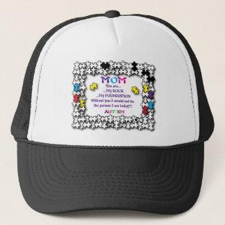 Autism Mom The Rock Trucker Hat