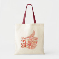 cure, tote, bag, faith, hope, love, mother, facebook, like, autism, Bag with custom graphic design