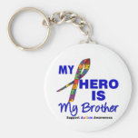 Autism My Hero is My Brother Keychains