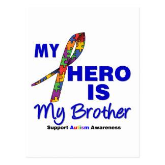Autism My Hero is My Brother Postcard