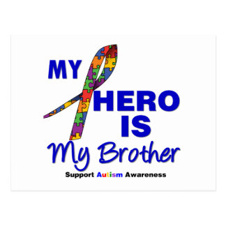 Autism My Hero is My Brother Post Cards