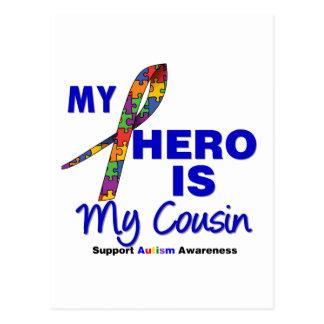 Autism My Hero is My Cousin Postcard