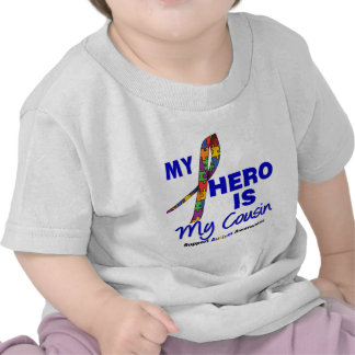 Autism My Hero is My Cousin T Shirts