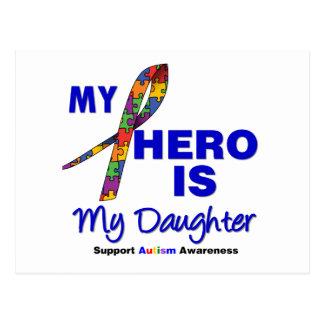 Autism My Hero is My Daughter Postcard