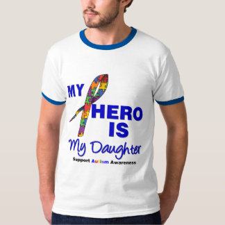 Autism My Hero is My Daughter T Shirt