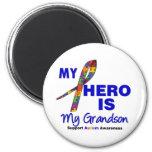 Autism My Hero is My Grandson Fridge Magnets