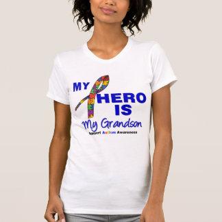 Autism My Hero is My Grandson Tee Shirt