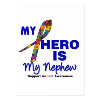 Autism My Hero is My Nephew Postcard