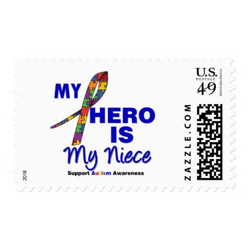Autism My Hero is My Niece Stamp