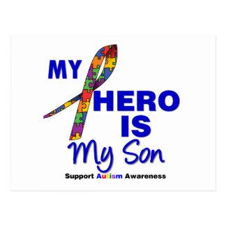 Autism My Hero is My Son Postcard