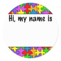 Autism Name Tag
