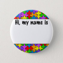 Autism Name Tag Button