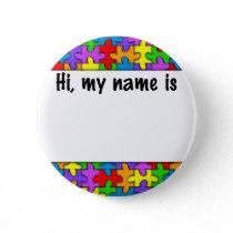 Autism Name Tag Button