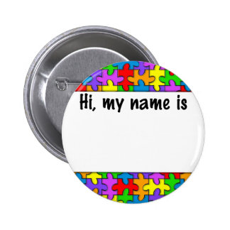 Autism Name Tag Buttons