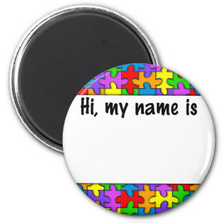 Autism Name Tag Magnet