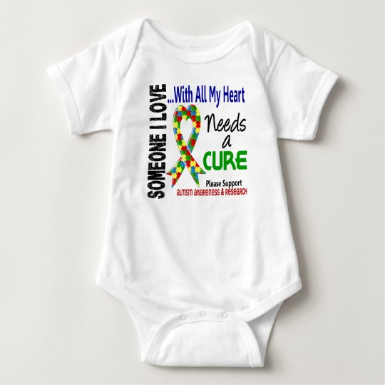 Autism Needs A Cure 3 Baby Bodysuit