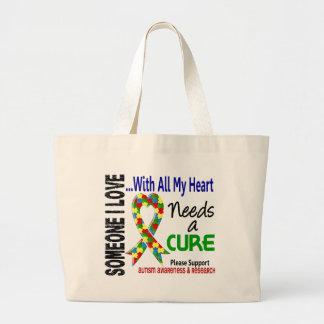 Autism Needs A Cure 3 Jumbo Tote Bag