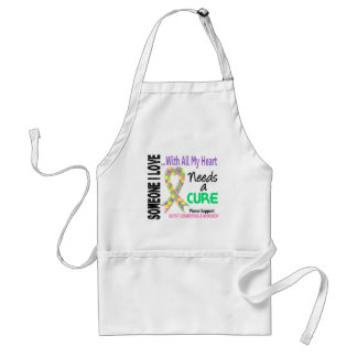 Autism Needs A Cure 3 Pastel Adult Apron