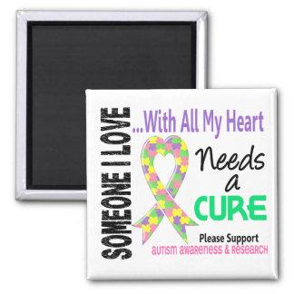 Autism Needs A Cure 3 (Pastel) Magnet