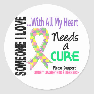 Autism Needs A Cure 3 Pastel Stickers