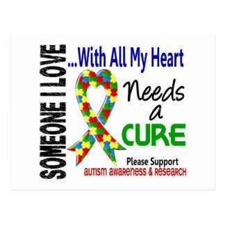 Autism Needs A Cure 3 Postcard