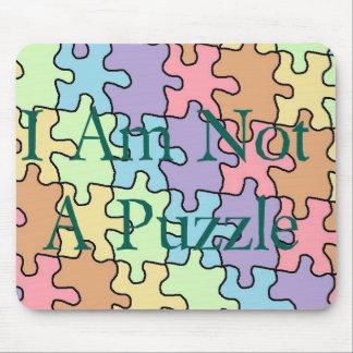 autism not a puzzle 1 mouse pad