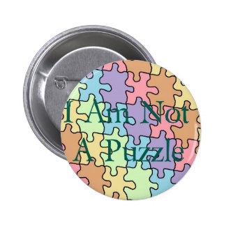 autism not a puzzle 1 pinback button