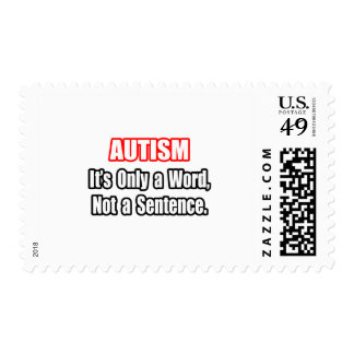 Autism...Not a Sentence Stamp