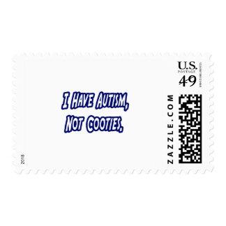 Autism...Not Cooties Postage Stamp